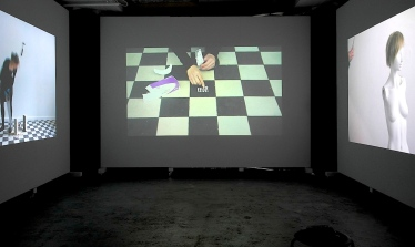 Huuto Jätkäsaari2, 2014, 3-channel video installation